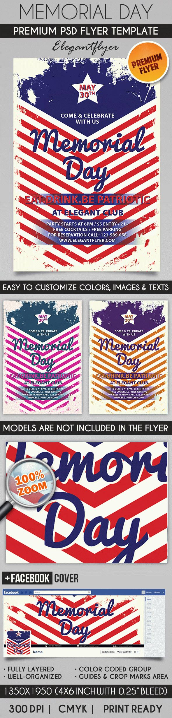 Happy Memorial Day Weekend PSD Flyer
