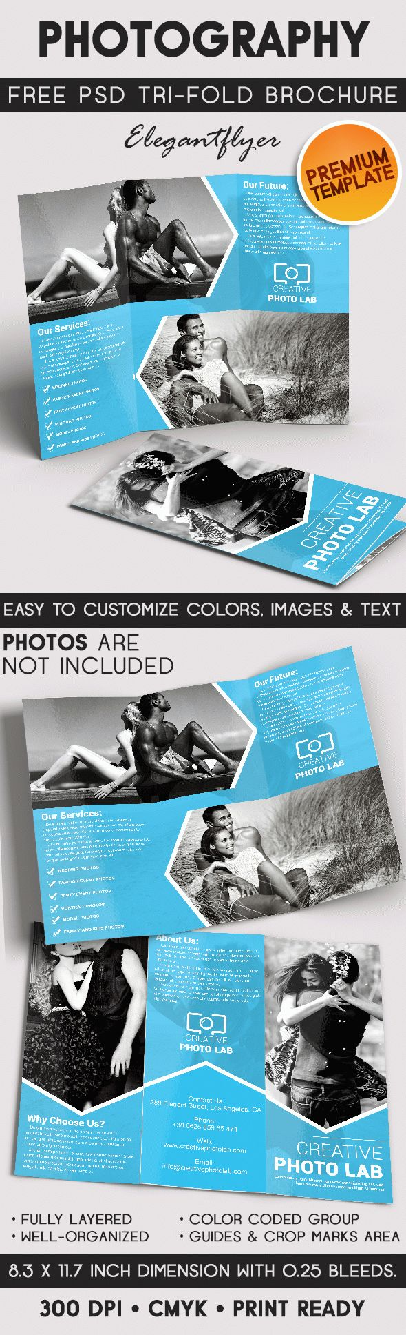 Photography – Tri-Fold Brochure PSD Template