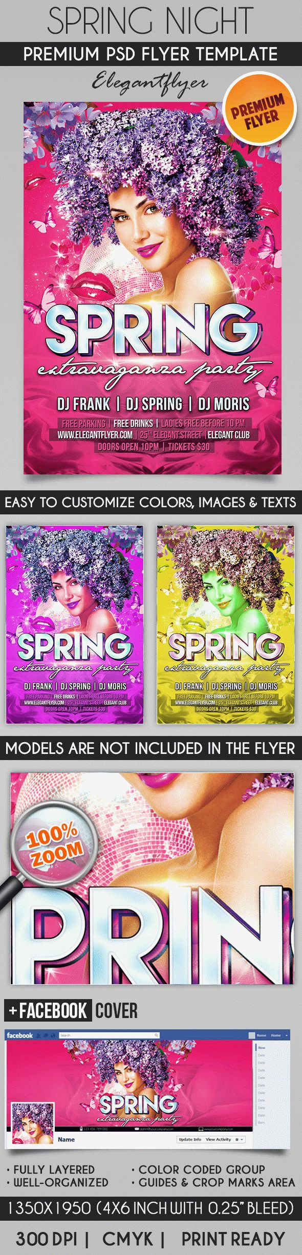 Spring Extravaganza Night – Flyer PSD Template