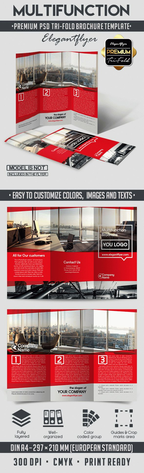 Multifunction – Tri-Fold Brochure PSD Template