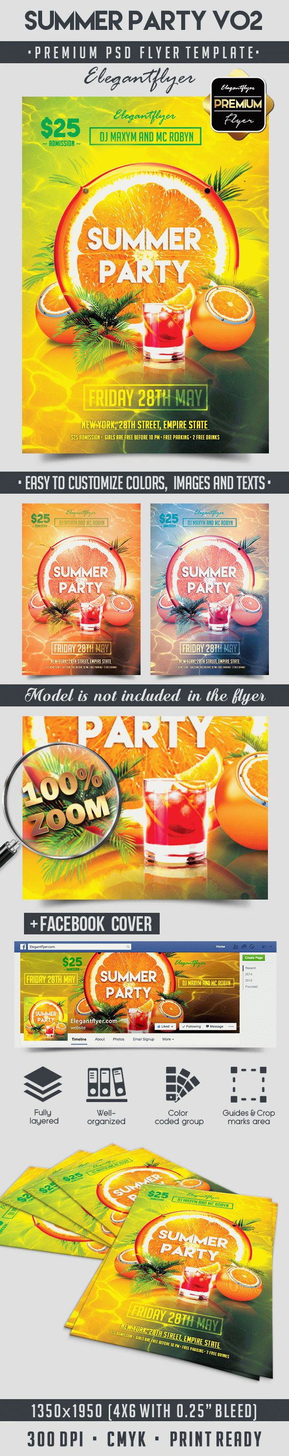 Summer Party V02 – Flyer PSD Template