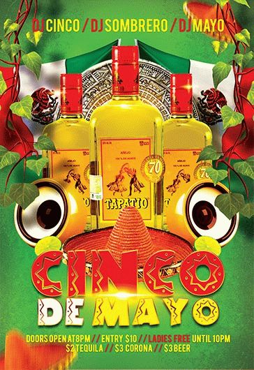 Cinco de Mayo V04 – Flyer PSD Template + Facebook Cover