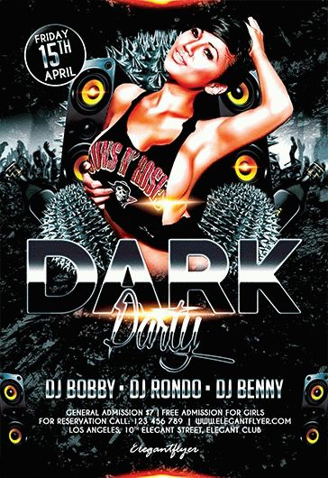 Dark Party – Flyer PSD Template