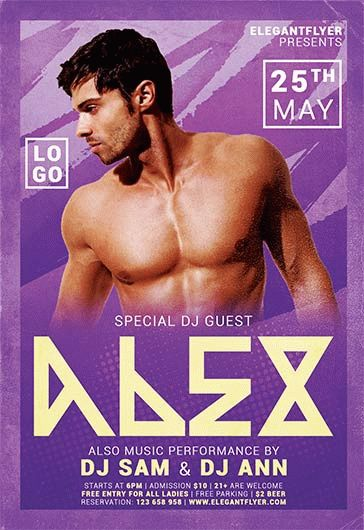 Dj Alex – Flyer PSD Template