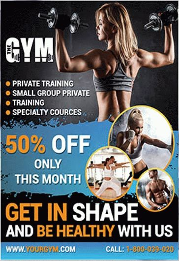 Gym – Flyer PSD Template + Facebook Cover