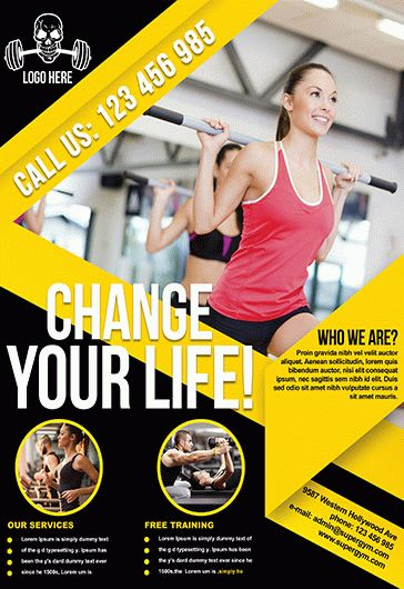 Fitness Flyer – Flyer Psd Template + Facebook Cover – By Elegantflyer