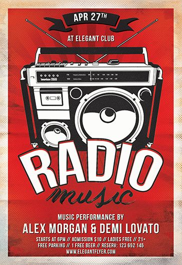 Retro Music Radio – Flyer PSD Template