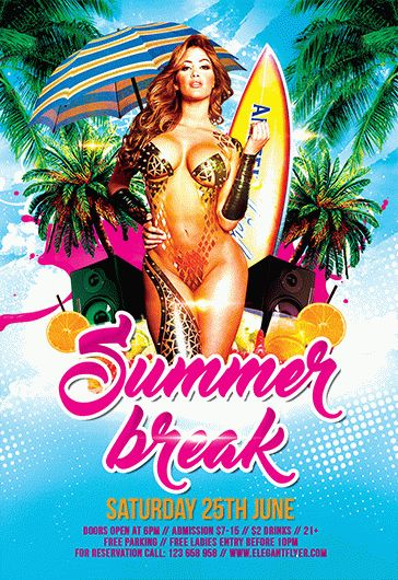 Invitation For Summer Break Party