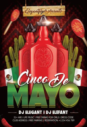 5 De Mayo Party – Flyer PSD Template