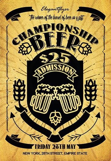 Beer Championship – Flyer PSD Template