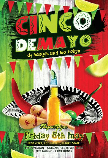 Cinco De Mayo V03 – Flyer PSD Template