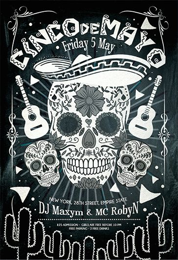 Cinco de Mayo V04 – Flyer PSD Template