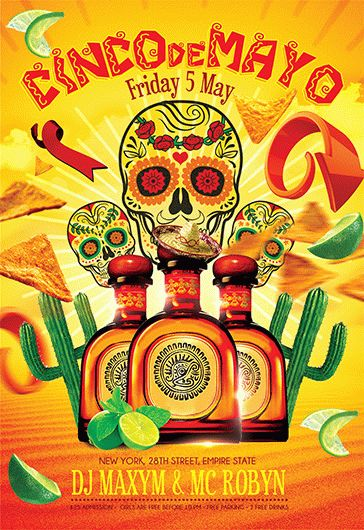Cinco de Mayo V05 – Flyer PSD Template
