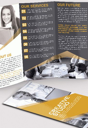 Sushi Bar – Tri-Fold PSD Brochure Template