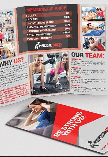 Free Tri-Fold Brochure For Fitness