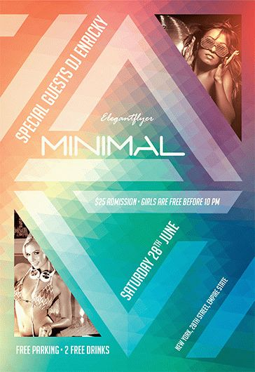 Minimal Party – Flyer PSD Template + Facebook Cover