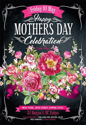 Mother's Day Celebration – Flyer PSD Template + Facebook Cover