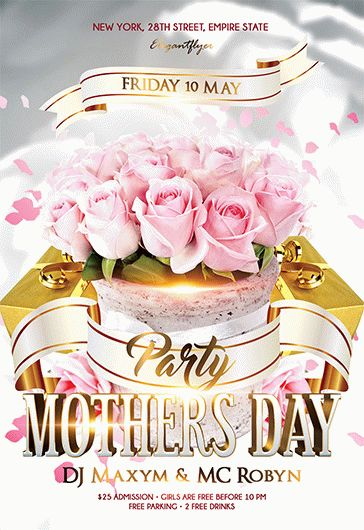 Mother's Day Party – Flyer PSD Template + Facebook Cover