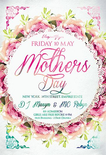 Mother's Day – Flyer PSD Template + Facebook Cover