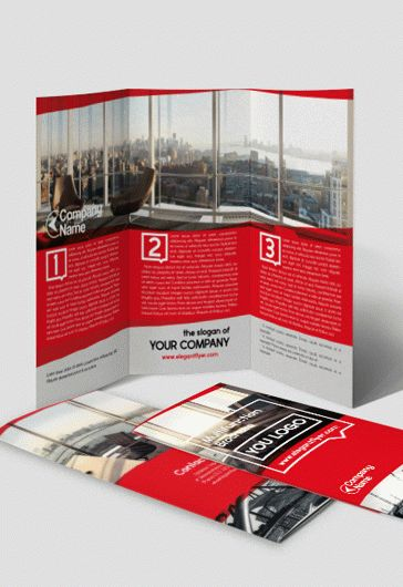 Business Company – Tri-Fold Brochure PSD Template