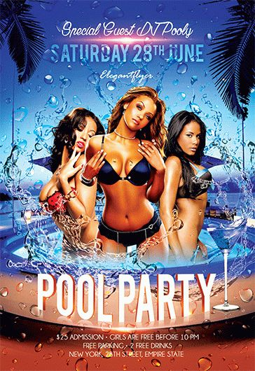 Pool Party V  Flyer Psd Template  Facebook Cover  By Elegantflyer