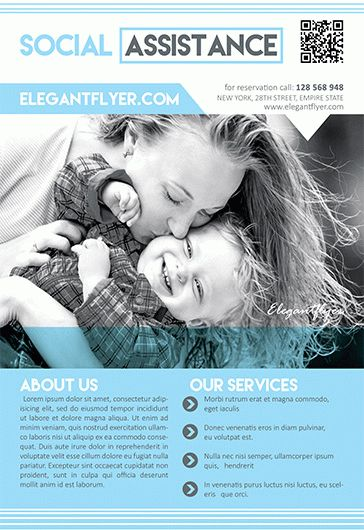 Social Assistance – Flyer PSD Template