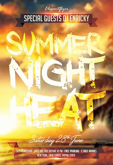 Summer Night Heat – Free Flyer PSD Template