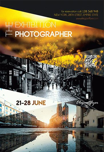 The Exhibition The Photographer – Flyer PSD Template