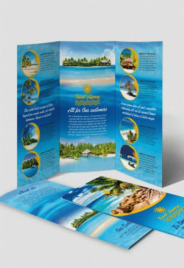 Diving – Premium Tri-Fold PSD Brochure Template