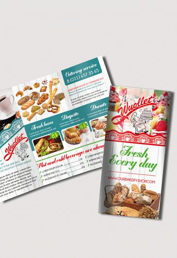 Brochure for Bakery and Cupcake