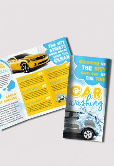 Car Wash – Premium Tri-Fold PSD Brochure Template