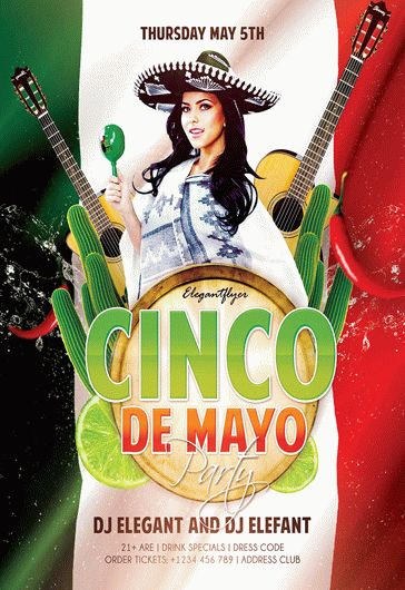 Cinco de Mayo Party – Flyer PSD Template