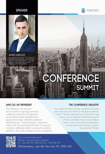 Conference Summit – Flyer PSD Template