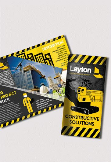 Tri-Fold Brochure for Construction Business