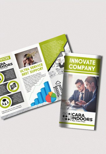 Corporate – Free PSD Tri-Fold PSD Brochure Template