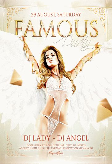 Famous Party – Flyer PSD Template + Facebook Cover