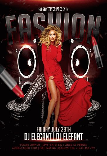 Fashion Party – Flyer PSD Template + Facebook Cover