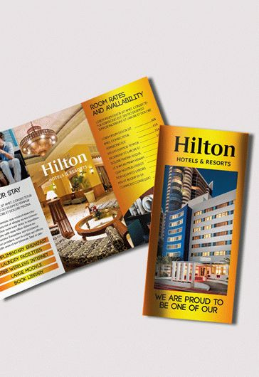 Free Hotel And Motel TriFold Psd Brochure  By Elegantflyer