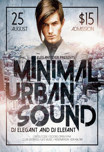 Minimal Urban Sound – Flyer PSD Template