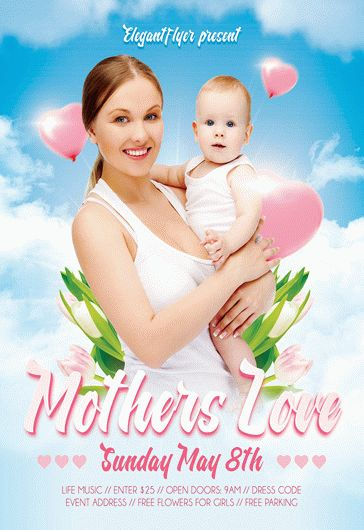 Mothers Love – Flyer PSD Template + Facebook Cover