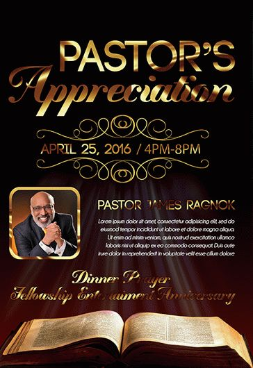 pastor appreciation free flyer psd template by elegantflyer