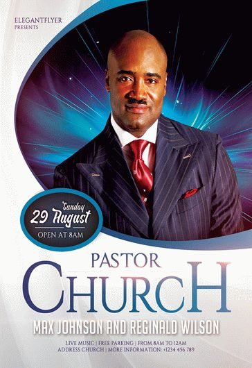 pastors church  u2013 free flyer psd template  u2013 by elegantflyer