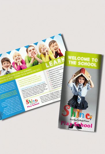 School – Free Psd Tri-Fold Psd Brochure Template – By Elegantflyer