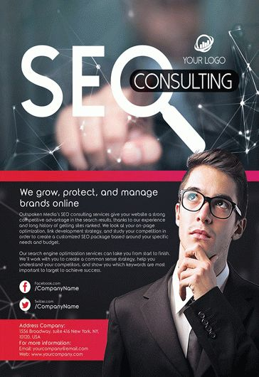 SEO Consulting – Flyer PSD Template