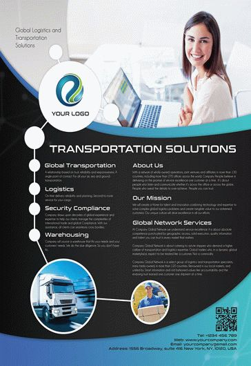 Transportation Solutions – Flyer PSD Template