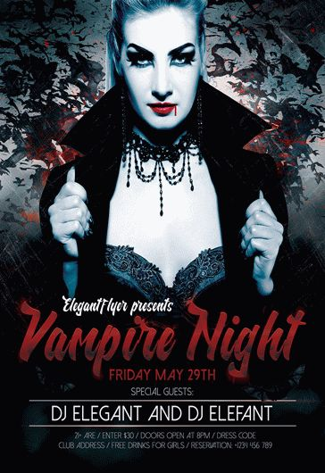 Vampire Night – Flyer PSD Template