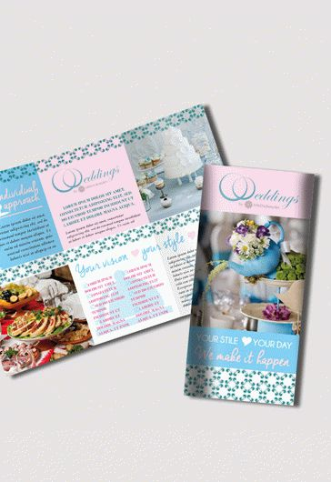 Wedding and Event Tri-Fold Brochure