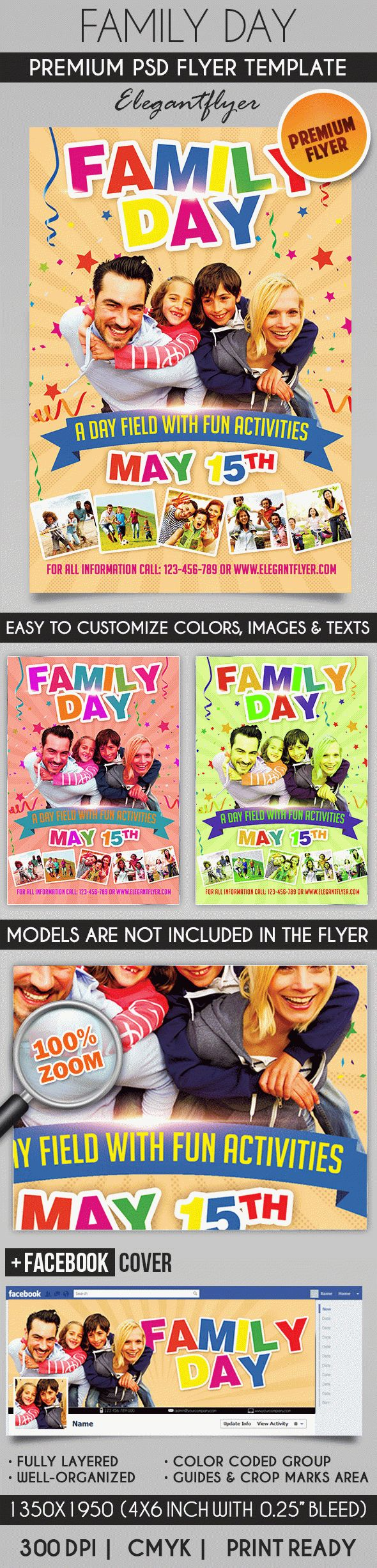 Family Day – Flyer PSD Template + Facebook Cover