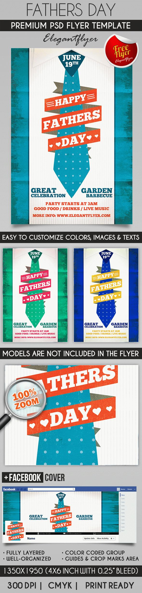 Fathers Day – Flyer PSD Template