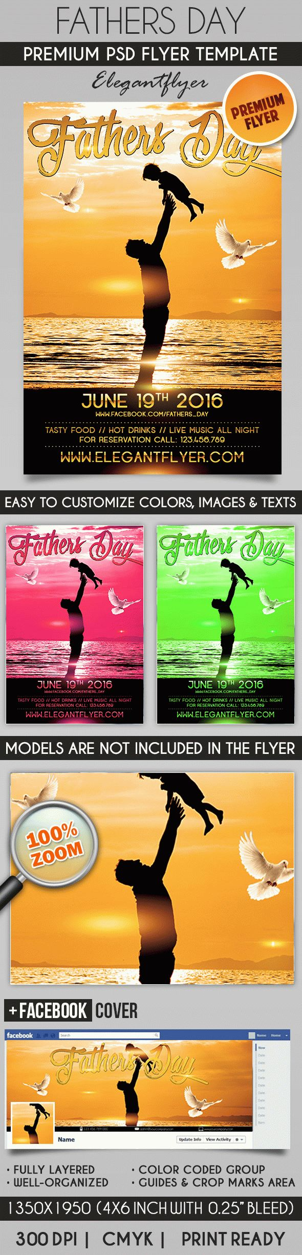 Fathers Day Celebration – Flyer PSD Template